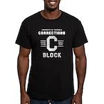 C BLOCK Men's Fitted T-Shirt (dark)