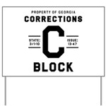 C BLOCK Yard Sign