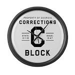 C BLOCK Large Wall Clock