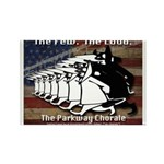Parkway Chorale loud and proud Rectangle Magnet (1