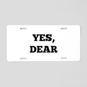 Yes, Dear Aluminum License Plate