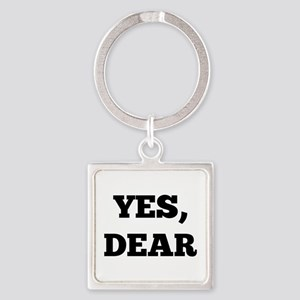 Yes, Dear Square Keychain