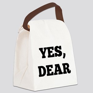 Yes, Dear Canvas Lunch Bag