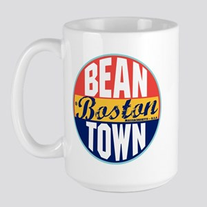 Boston Vintage Label Large Mug