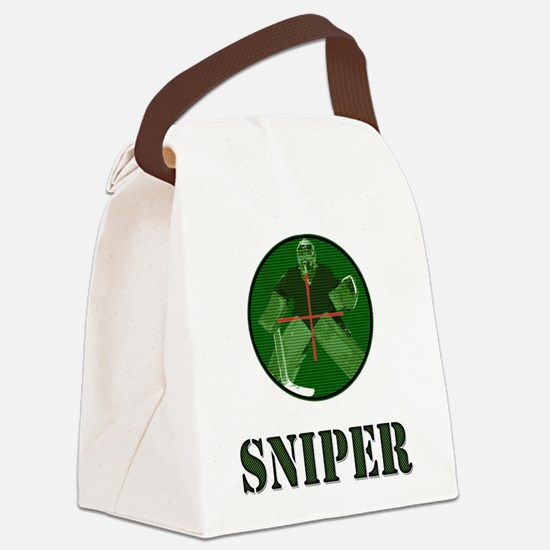 Night Vision Ice Hockey Sniper Canvas Lunch Bag