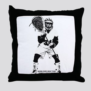 Behind Every Great Team Throw Pillow