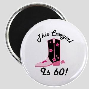 60th Birthday Cowgirl Magnet