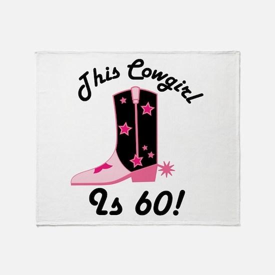 60th Birthday Cowgirl Throw Blanket