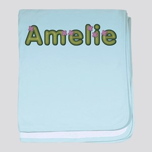 Amelie Spring Green baby blanket