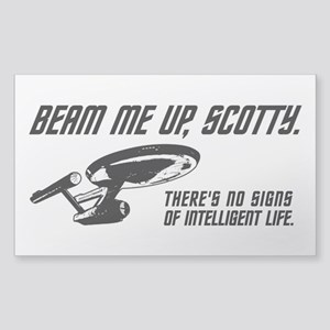 Beam Me Up Scotty Sticker