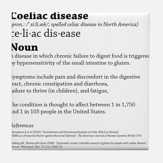 COELIAC CELIAC DISEASE DEFINITION. Tile Coaster