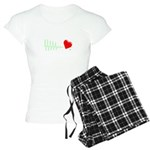Flatline bleeding heart Pajamas