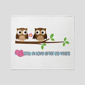 Owl 20th Anniversary Throw Blanket