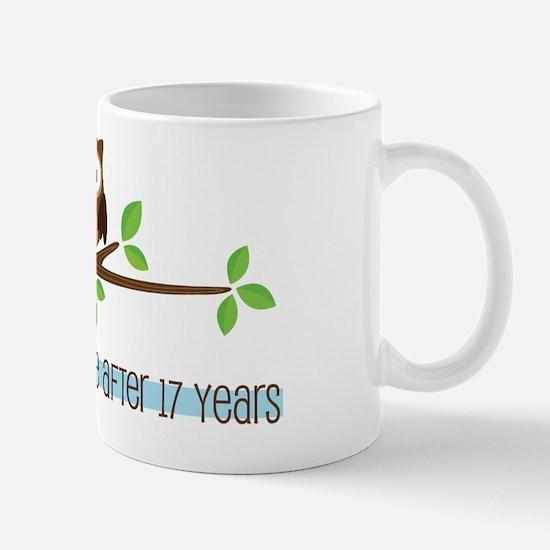 Owl 17th Anniversary Mug