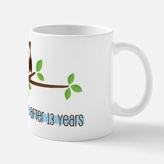 Owl 13th Anniversary Mug