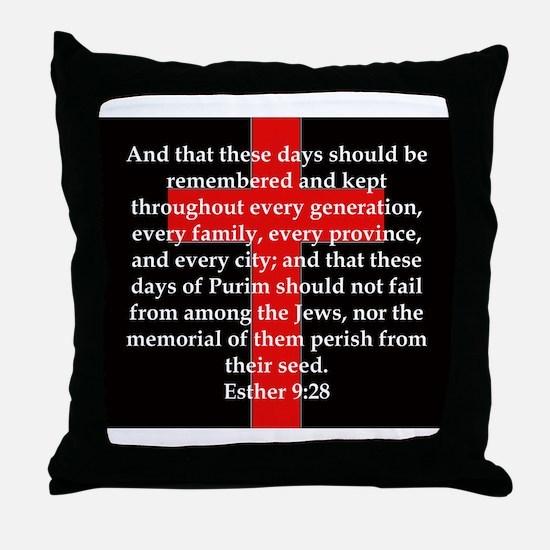 Esther 9-28 Throw Pillow