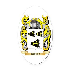 Behring Oval Car Magnet