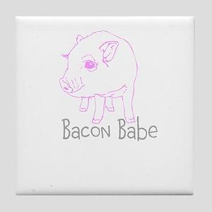 Bacon Babe Tile Coaster