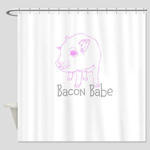 Bacon Babe Shower Curtain