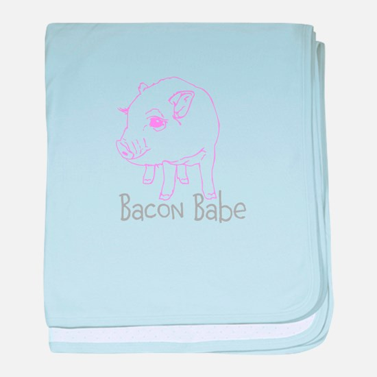Bacon Babe baby blanket