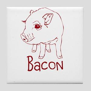Bacon Pig Tile Coaster