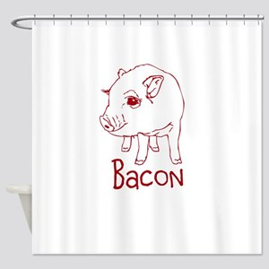 Bacon Pig Shower Curtain