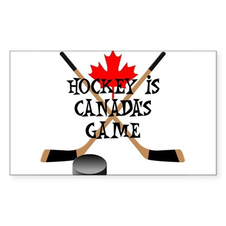 Canada's Game Rectangle Sticker