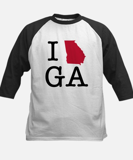 I Love Georgia Baseball Jersey
