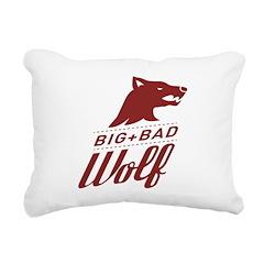 Big Bad Wolf Rectangular Canvas Pillow
