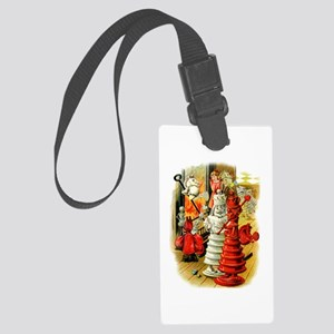 White King and Red Queen Large Luggage Tag