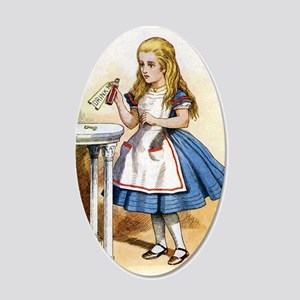 Alice - Drink Me! 20x12 Oval Wall Decal