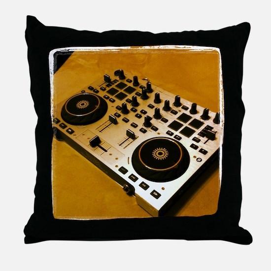 Midi Dj Throw Pillow