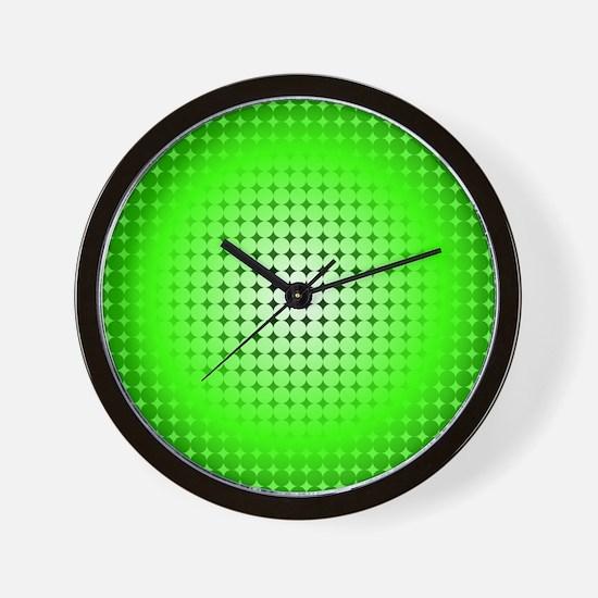 Green Hoop Dots Full Fade Wall Clock