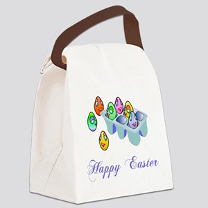 Coloring Easter Eggs Canvas Lunch Bag