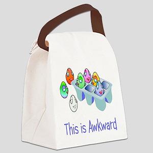 Awkward Eggs Canvas Lunch Bag