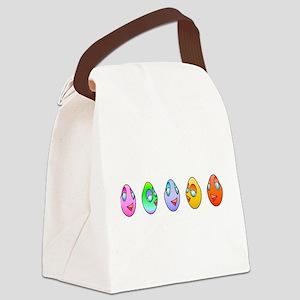 Cute Eggs Canvas Lunch Bag