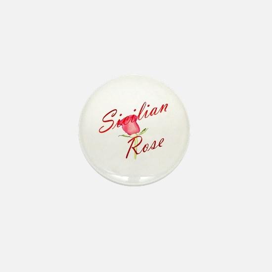Sicilian Rose Mini Button