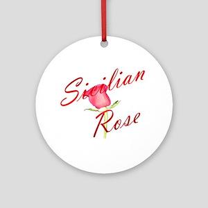 Sicilian Rose Ornament (Round)