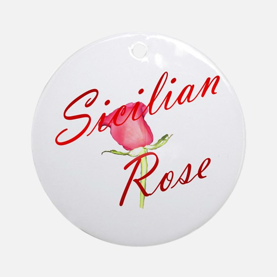 Sicilian Rose Ornament (Round)