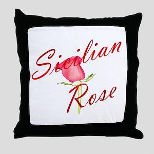 Sicilian Rose Throw Pillow