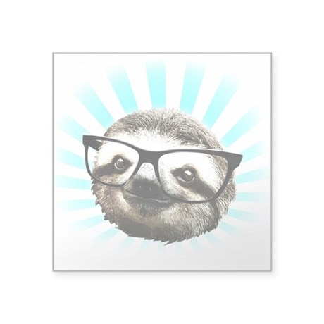 Cute! Hipster Sloth Sticker