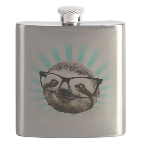 Cute! Hipster Sloth Flask