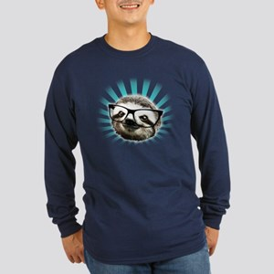 Cute! Hipster Sloth Long Sleeve T-Shirt