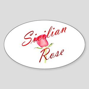 Sicilian Rose Oval Sticker