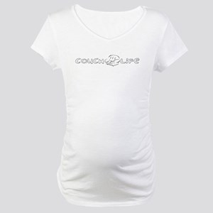 Couch Life (Black) Maternity T-Shirt