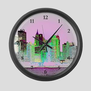 NYC SKYLINE Large Wall Clock