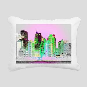 NYC SKYLINE Rectangular Canvas Pillow