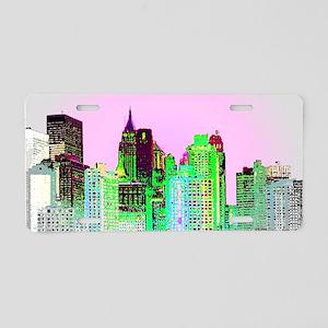 NYC SKYLINE Aluminum License Plate