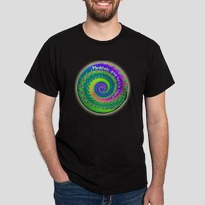 Meditate, Drink Tea, Be Happy Dark T-Shirt