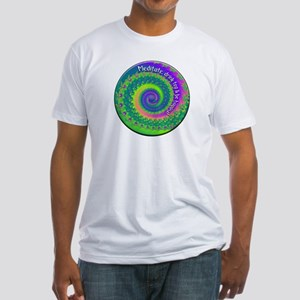 Meditate, Drink Tea, Be Happy Fitted T-Shirt